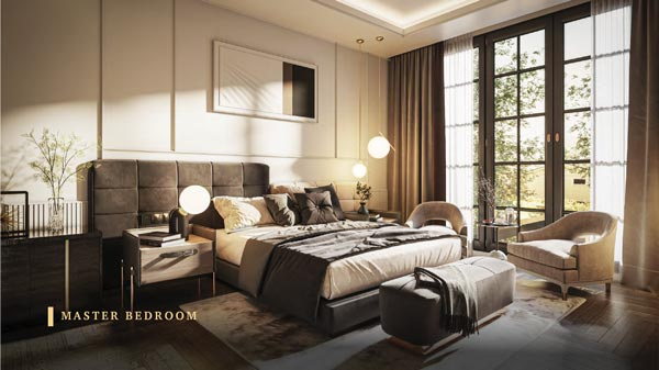 Kamar tidur yang di lengkapi-dengan tempat tidur yang nyaman