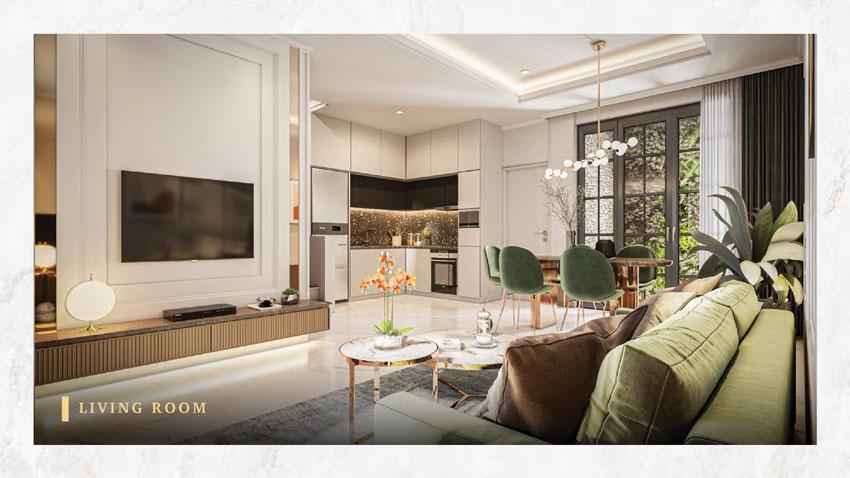 living room type 6 bukit podomoro